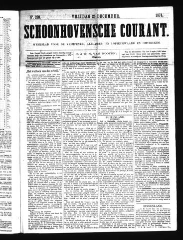 Schoonhovensche Courant 1874-12-25