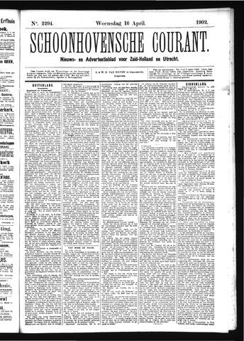 Schoonhovensche Courant 1902-04-16
