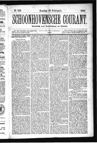 Schoonhovensche Courant 1880-02-29