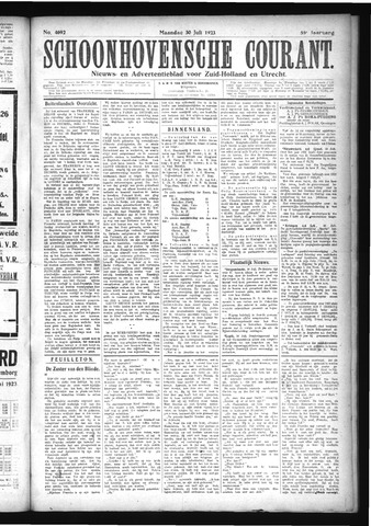 Schoonhovensche Courant 1923-07-30