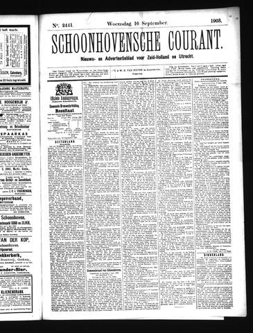 Schoonhovensche Courant 1903-09-16