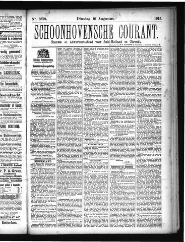 Schoonhovensche Courant 1915-08-10