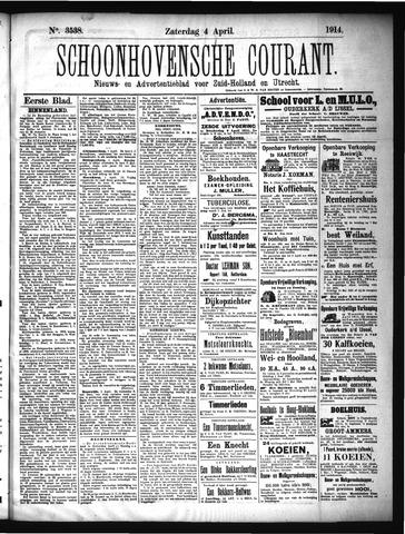 Schoonhovensche Courant 1914-04-04