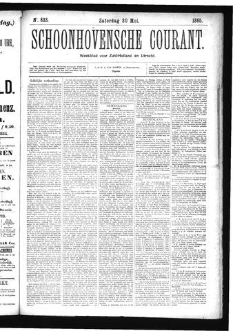 Schoonhovensche Courant 1885-05-30