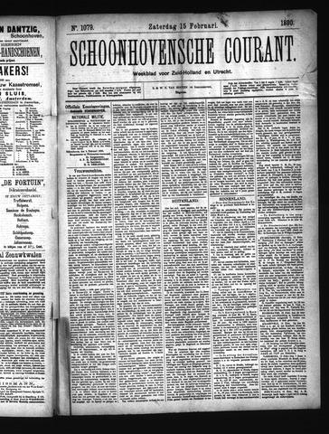 Schoonhovensche Courant 1890-02-15