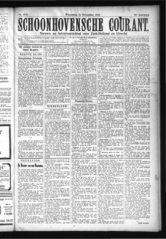 Schoonhovensche Courant 1923-11-21