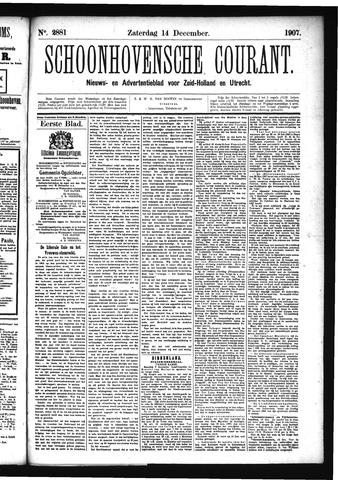 Schoonhovensche Courant 1907-12-14
