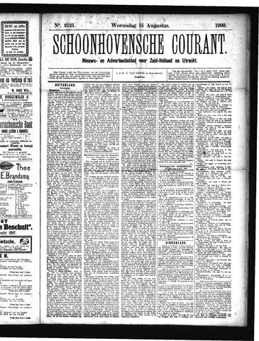 Schoonhovensche Courant 1900-08-15