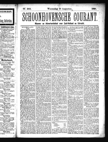 Schoonhovensche Courant 1898-08-10