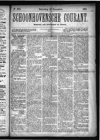 Schoonhovensche Courant 1889-12-21