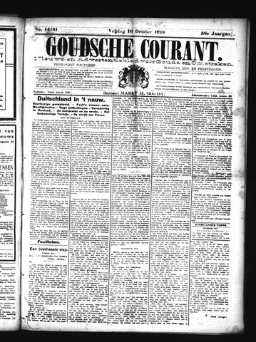 Goudsche Courant 1919-10-10