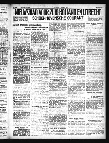 Schoonhovensche Courant 1940-10-28