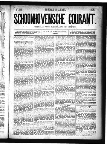 Schoonhovensche Courant 1876-04-30