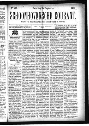 Schoonhovensche Courant 1892-09-24