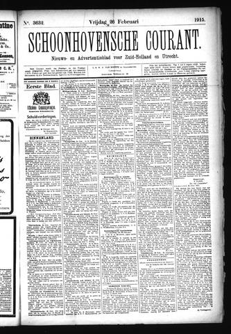 Schoonhovensche Courant 1915-02-26