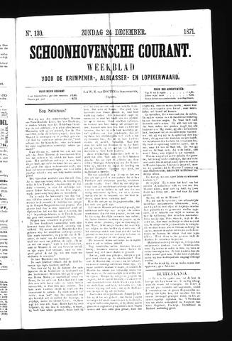 Schoonhovensche Courant 1871-12-24
