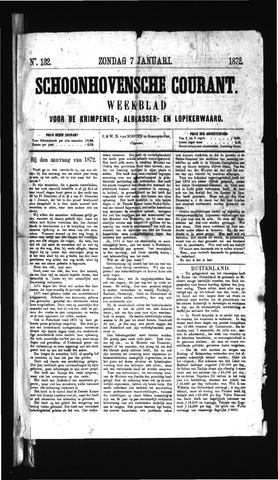 Schoonhovensche Courant 1872-01-07