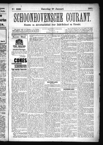Schoonhovensche Courant 1911-01-28