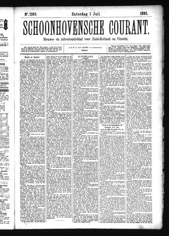 Schoonhovensche Courant 1893-07-01