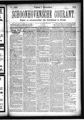 Schoonhovensche Courant 1916-12-01
