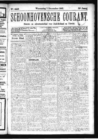 Schoonhovensche Courant 1921-12-07