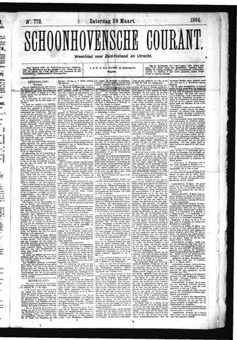 Schoonhovensche Courant 1884-03-29