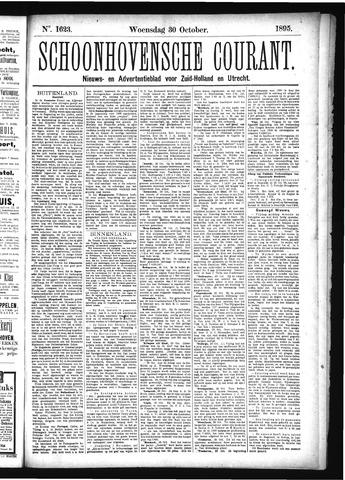 Schoonhovensche Courant 1895-10-30