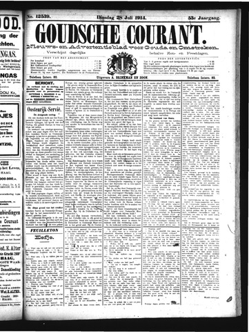 Goudsche Courant 1914-07-28