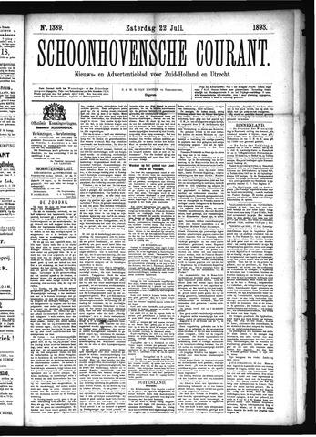Schoonhovensche Courant 1893-07-22