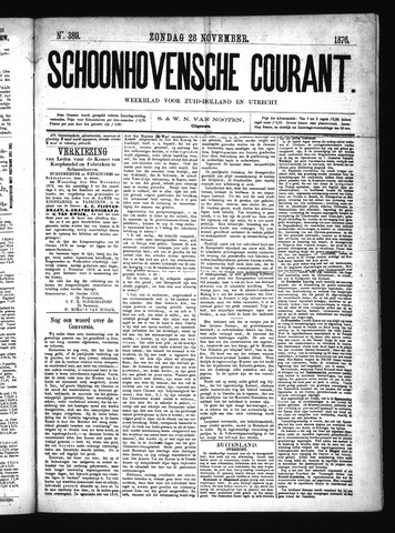 Schoonhovensche Courant 1876-11-26