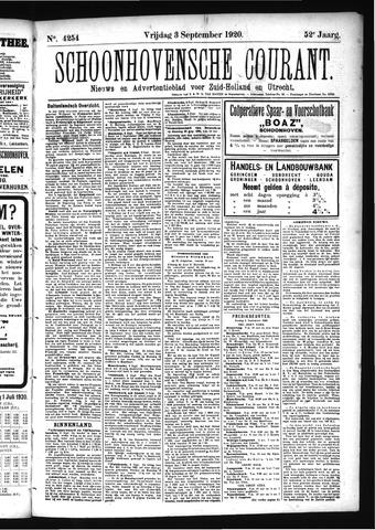 Schoonhovensche Courant 1920-09-03