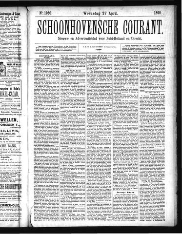 Schoonhovensche Courant 1892-04-27