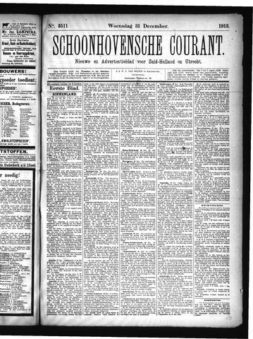 Schoonhovensche Courant 1913-12-31