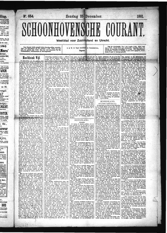 Schoonhovensche Courant 1881-12-25