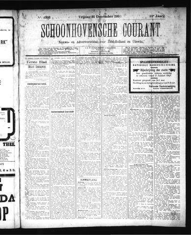 Schoonhovensche Courant 1920-12-31