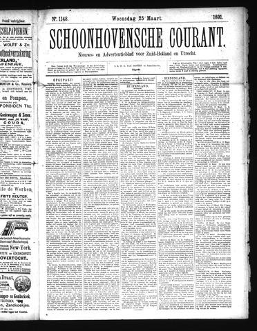 Schoonhovensche Courant 1891-03-25