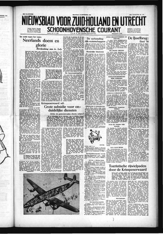 Schoonhovensche Courant 1953-09-28