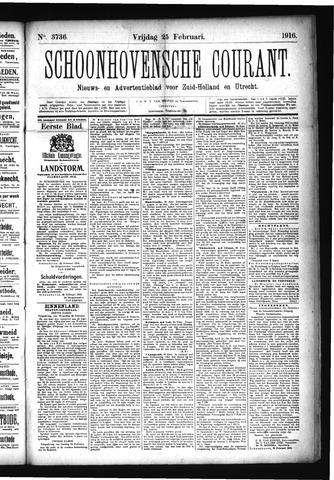 Schoonhovensche Courant 1916-02-25