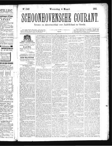 Schoonhovensche Courant 1891-03-04