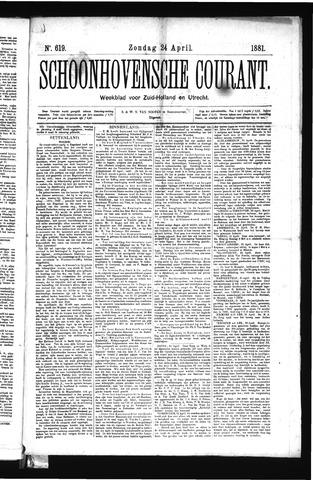 Schoonhovensche Courant 1881-04-24