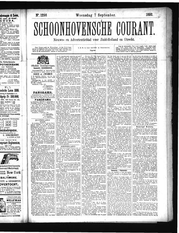 Schoonhovensche Courant 1892-09-07