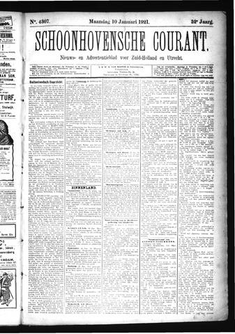 Schoonhovensche Courant 1921-01-10