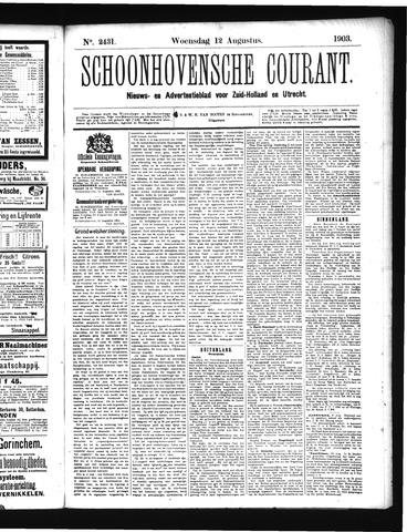 Schoonhovensche Courant 1903-08-12