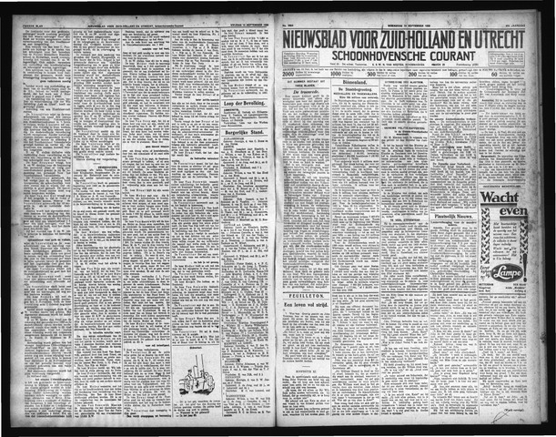 Schoonhovensche Courant 1929-09-18