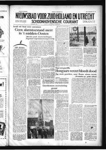 Schoonhovensche Courant 1956-11-09