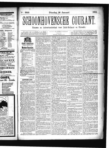 Schoonhovensche Courant 1915-01-26