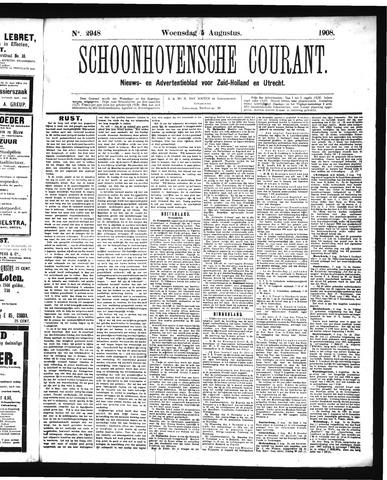 Schoonhovensche Courant 1908-08-05