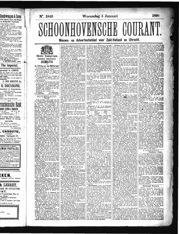 Schoonhovensche Courant 1898-01-05