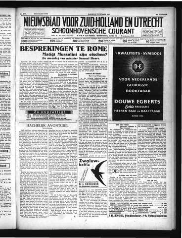 Schoonhovensche Courant 1935-10-23