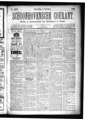 Schoonhovensche Courant 1909-10-02